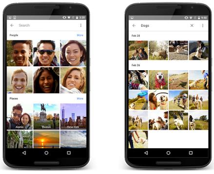 Google Fotoğraflar gruplama