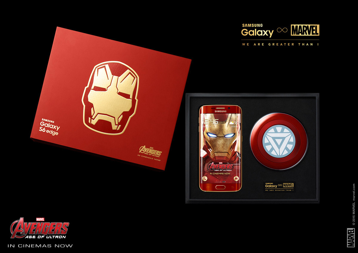 Galaxy S6 Edge Iron Man Edition ve Ark Reaktör formunda kablosuz şarj cihazı