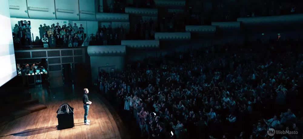 Steve Jobs filminden bir kare.