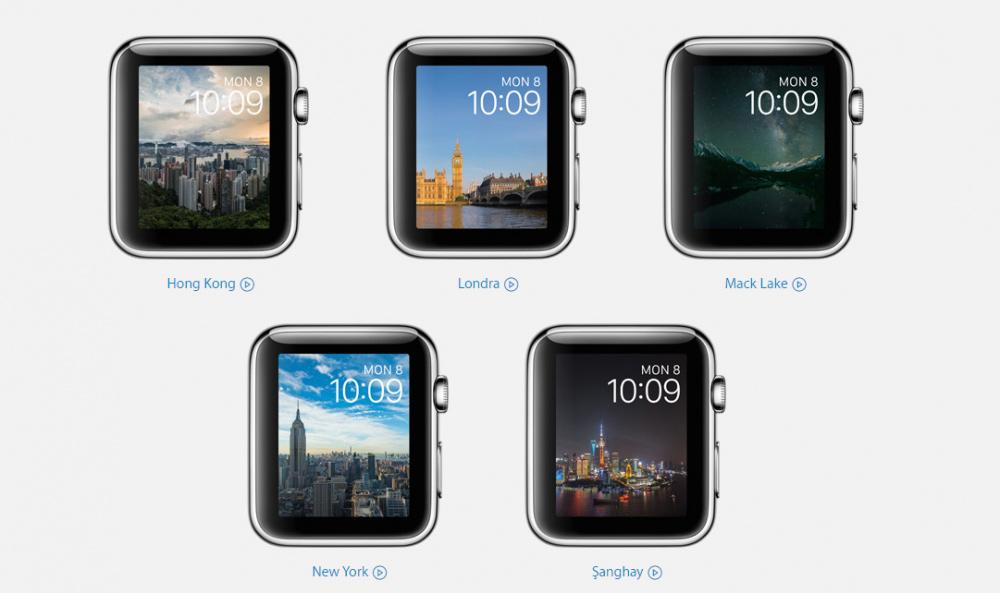 watchOS 2 ile fotoğraflar saat arayünde arkaplan olarak ayarlanabiliyor.
