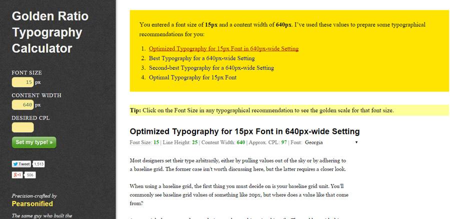 Tipografi altın oran hesaplama aracı