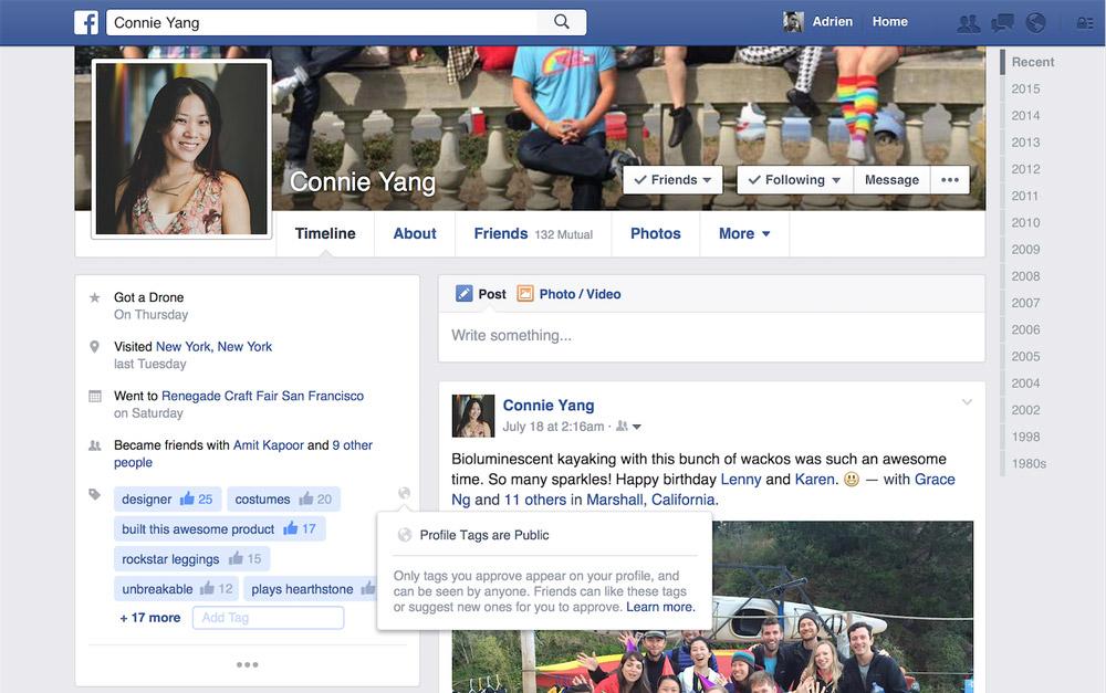Facebook Profil Etiketleri