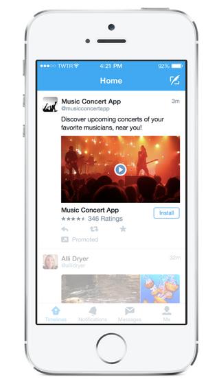 Twitter videolu uygulama reklamlari