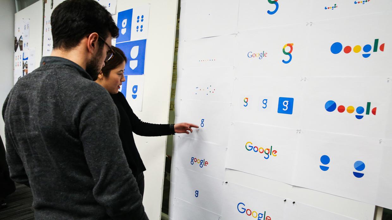 Google'ın üzerinde durduğu diğer logo alternatifleri