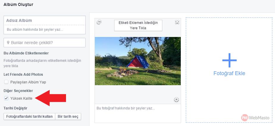 Facebook'a yüksek kalite fotoğraf yüklemek