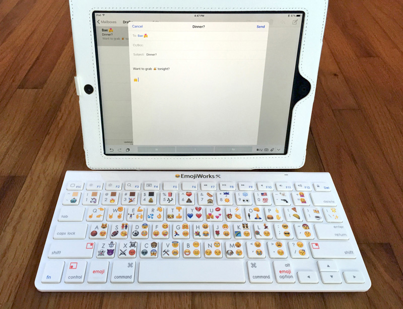 Emoji klavyesi iPad