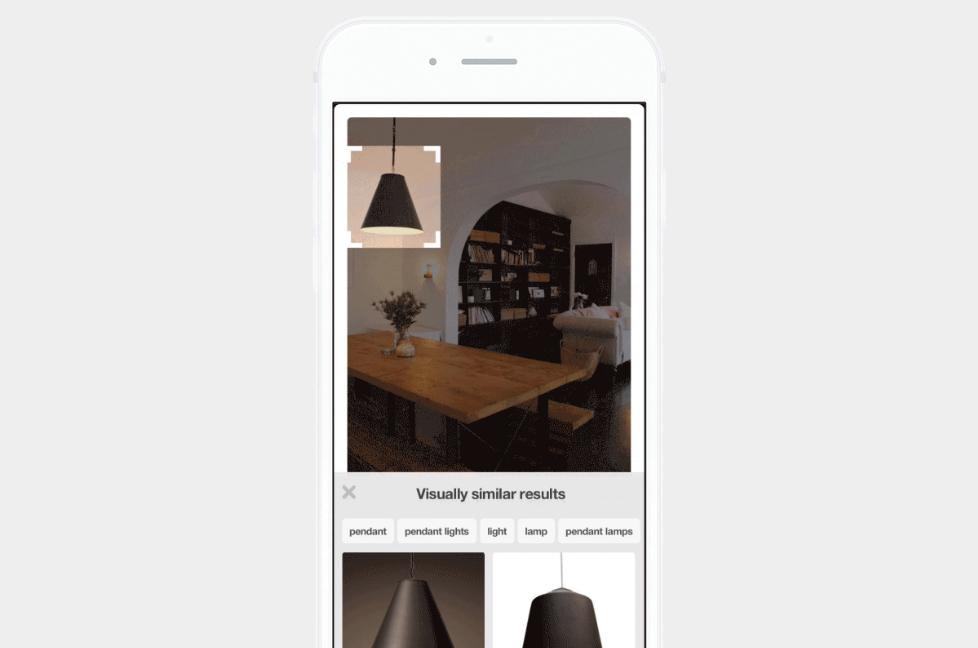 Pinterest görsel arama aracı