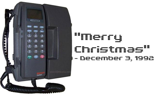 "İlk SMS ""Merry Christmas"""