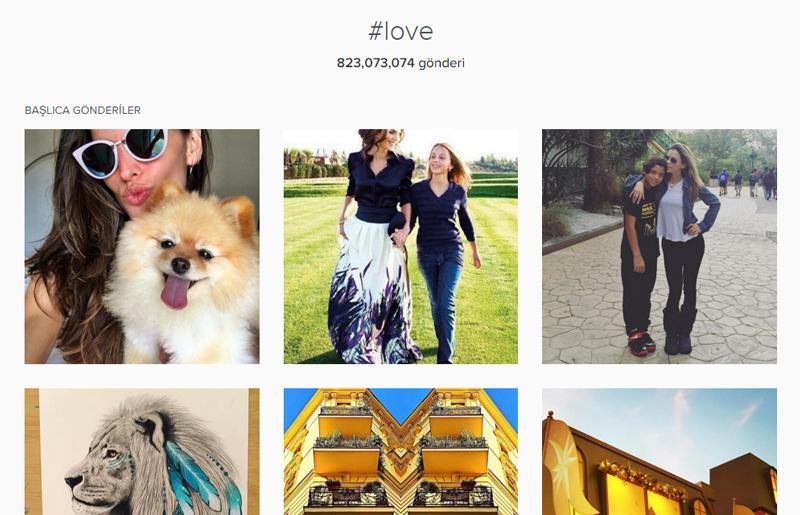 Instagram #Love Hashtag