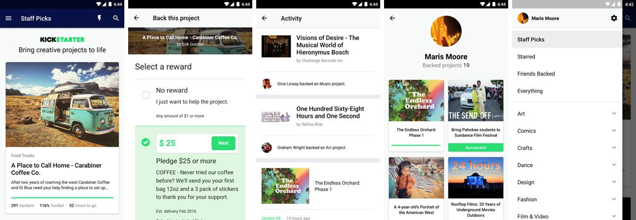 Kickstarter Android Uygulaması