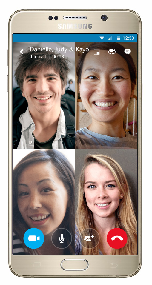 Skype Mobil Grup Halinde Görüntülü Görüşme