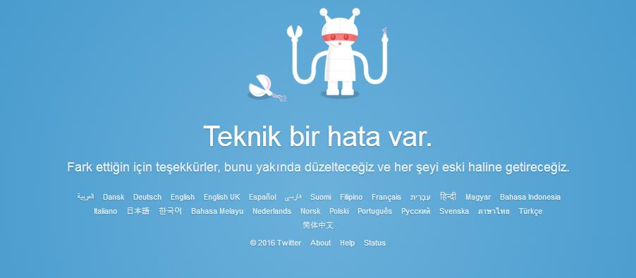 Twitter teknik hata