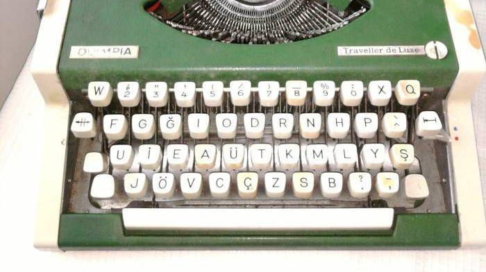 F klavye daktilo