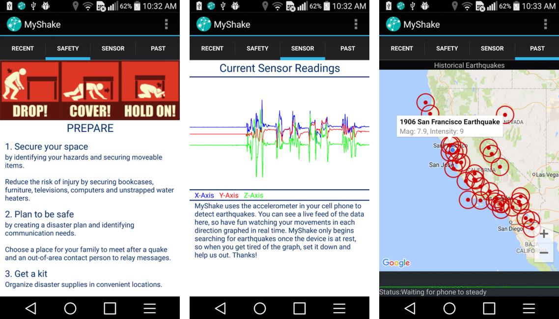 MyShake Android Uygulaması