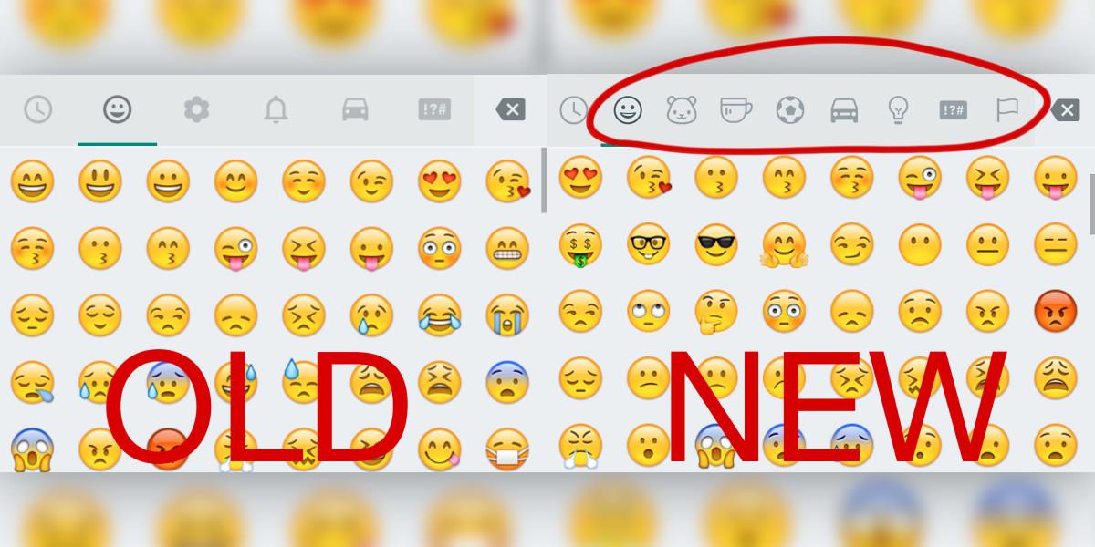WhatsApp Andorid yeni emojiler