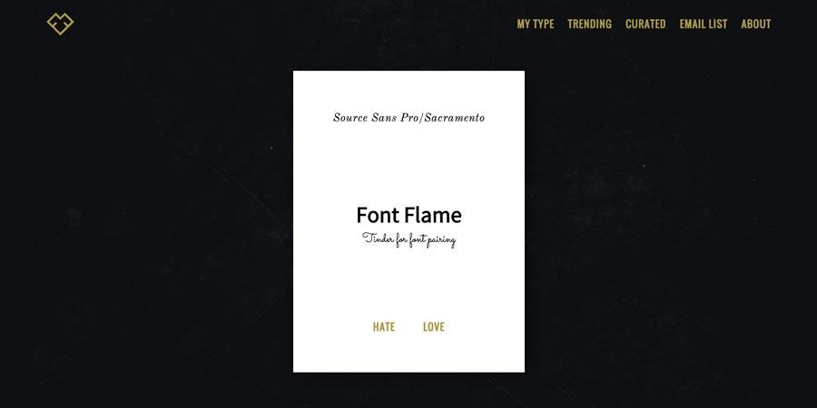 fontflame.com