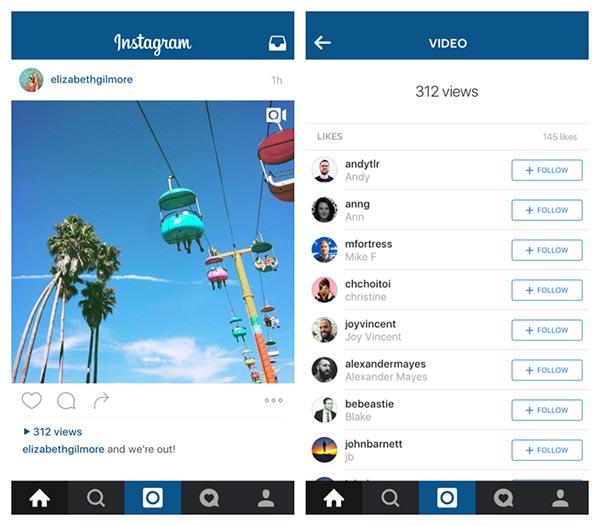 Instagram'da videolarınızı kimler izlemiş