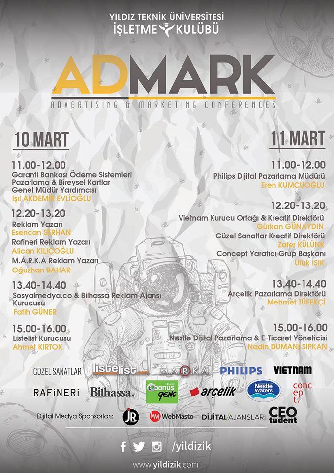 AdMark'16 Etkinlik Programı