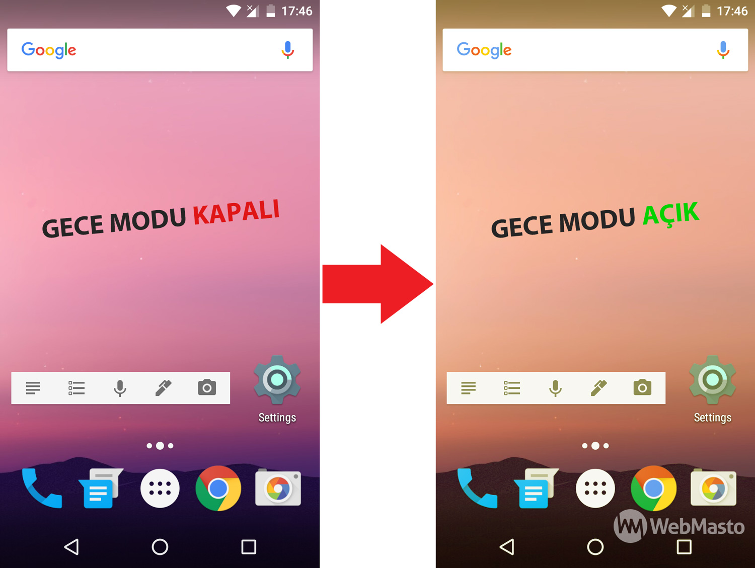 Android-N-Gece-Modu