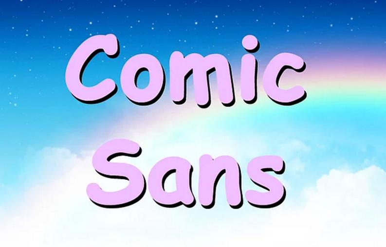 Comic Sans fontu