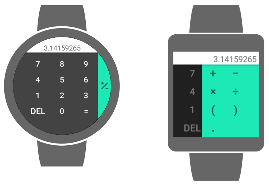 Google Hesap Makinesi Android Wear