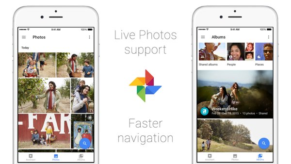 Google Photos iOS Live Photos