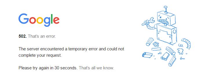 Google erisim problemi