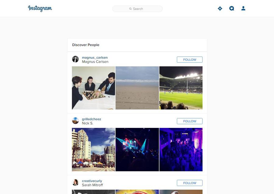 Instagram Web Keşfet
