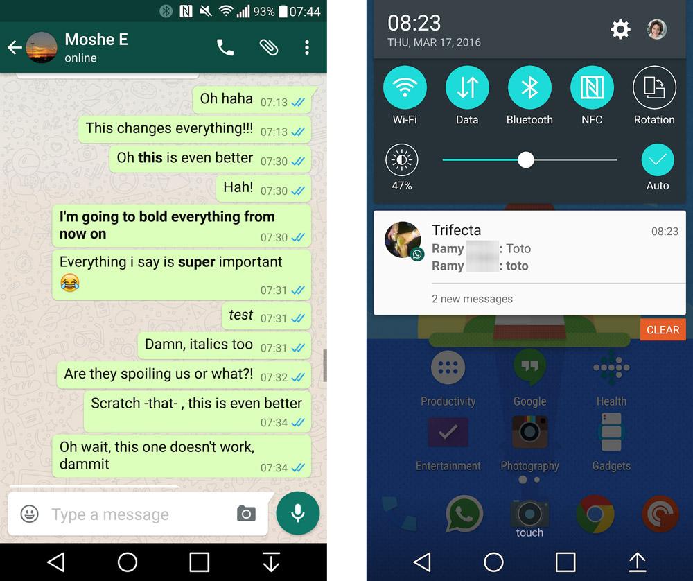 WhatsApp Kalın ve İtalik Yazmak