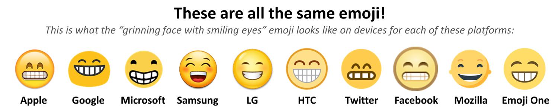 Emoji farkları