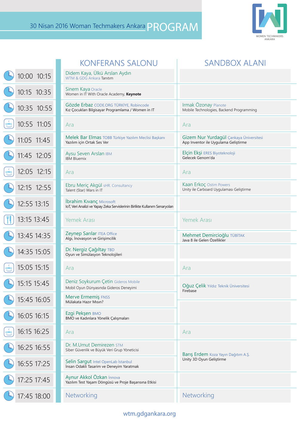 WTM 2016 Program