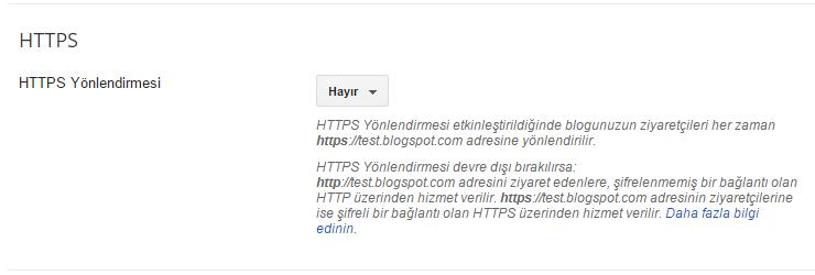 Google Blogspot HTTPS Yönlendirmesi