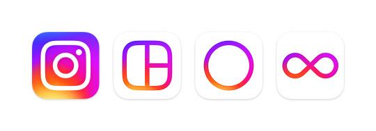 Instagram Layout Boomerang Hyperlapse logo 2016