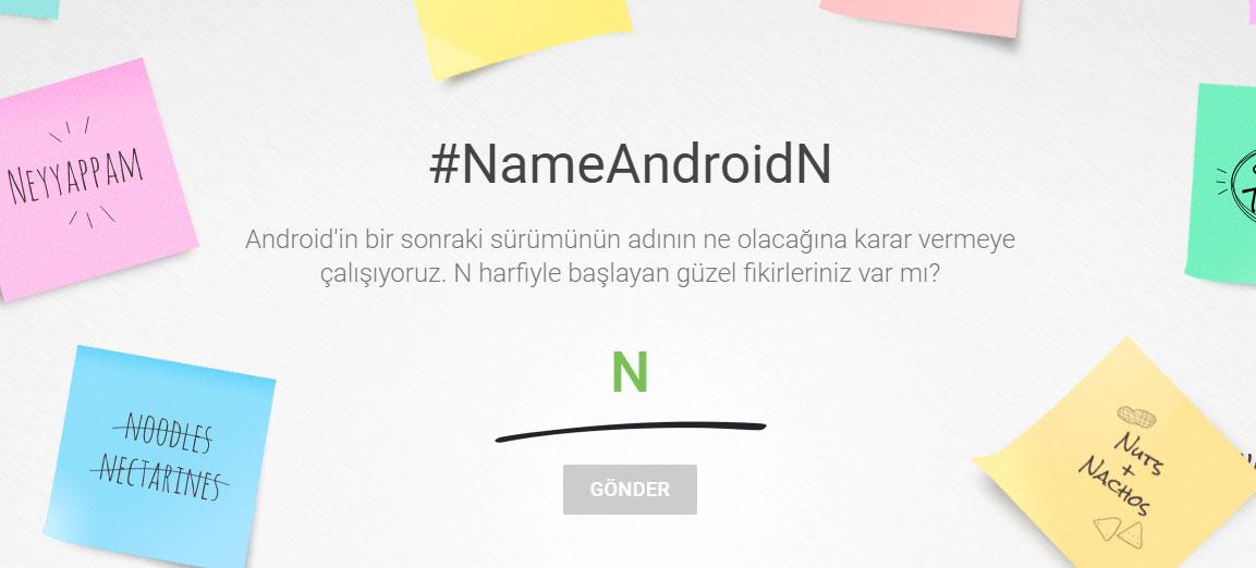 #NameAndroidN