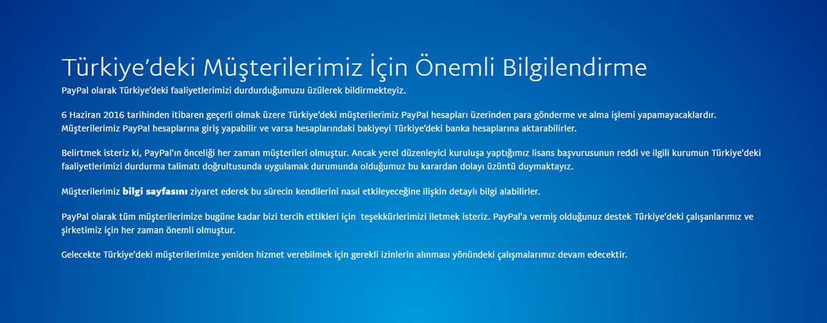 PayPal Türkiye 2016