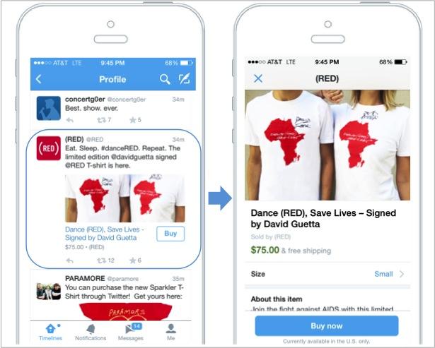 Twitter Satın Al Butonu