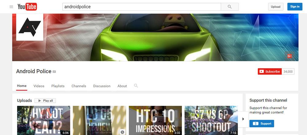 YouTube Kanal Sayfası