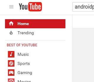 YouTube Yan Menu