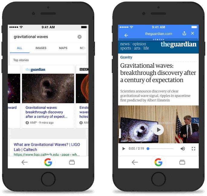 Google Hızlandırılmış Mobil Sayfalar (AMP) iOS