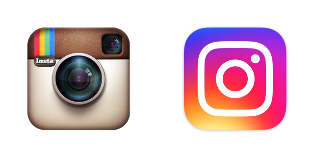 instagram eski logo yeni logo