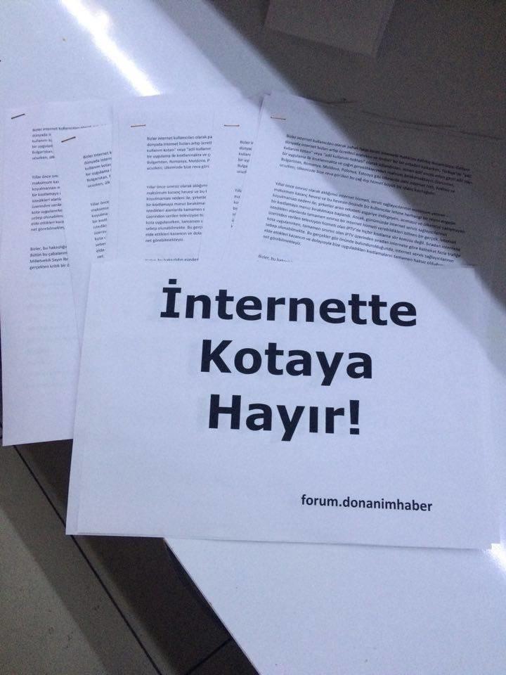 İnternette Kotaya Hayır