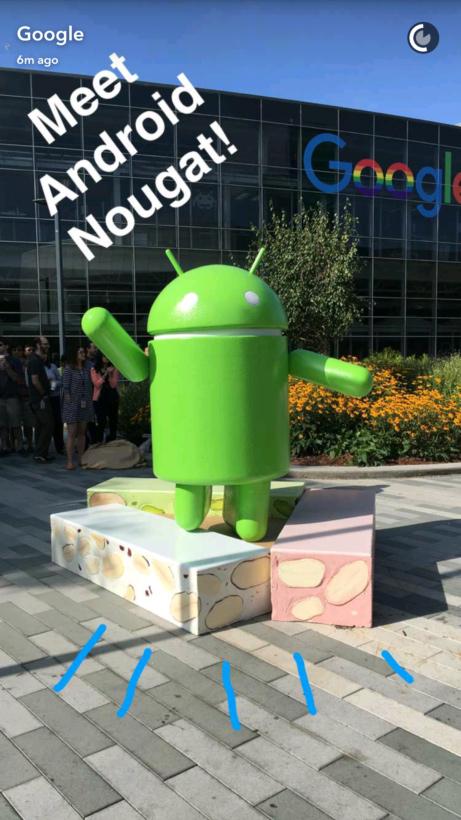 Android Nougat Snapchat