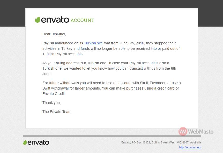 PayPal Envato Türkiye