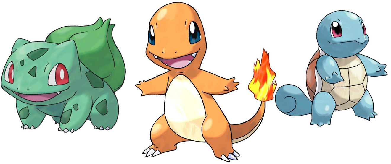Bulbasaur Charmander Squirtle