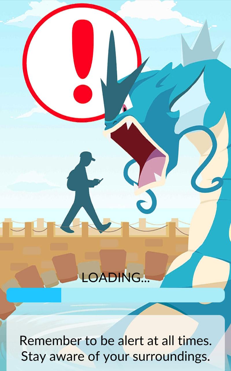 Pokemon GO açılış ekranı