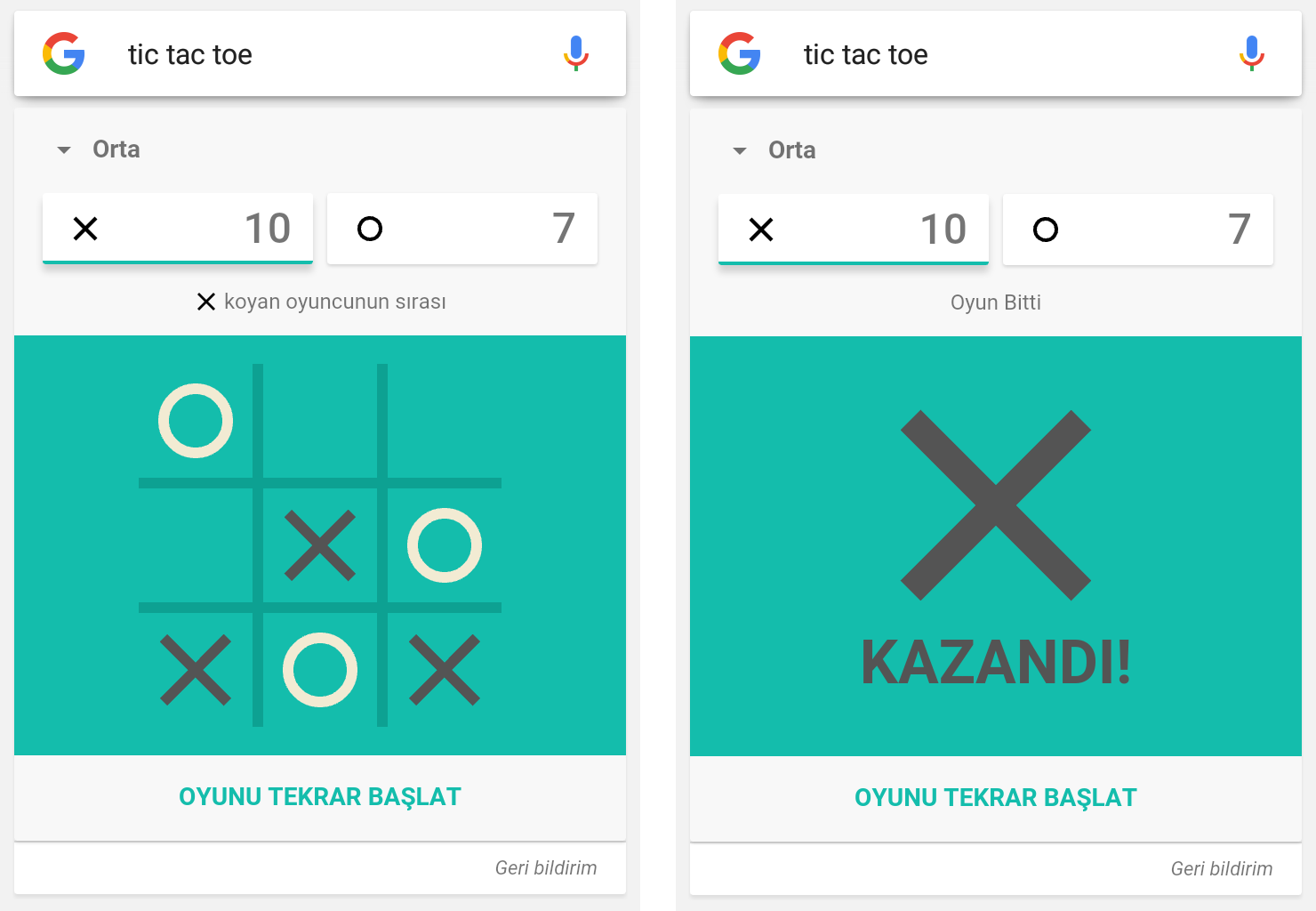Google Tic-Tac-Toe