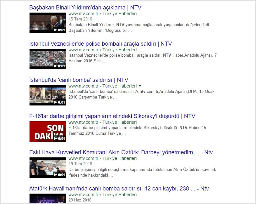 NTV Google Manipülasyonu