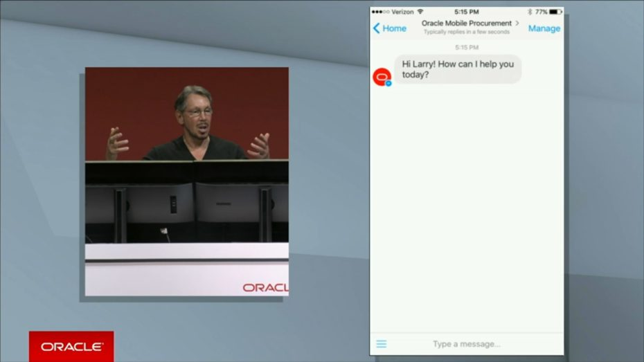 oracle-larry-ellison-openworld-2016-chatbot