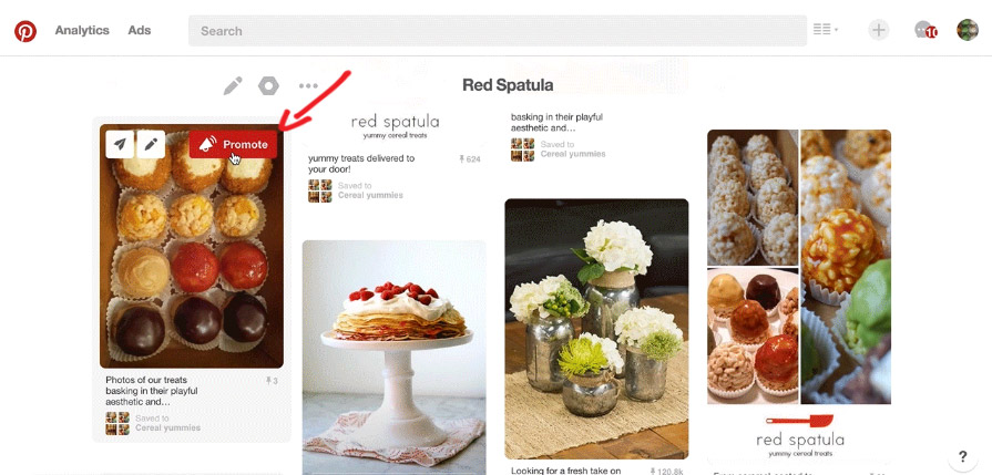 Pinterest Promote Butonu