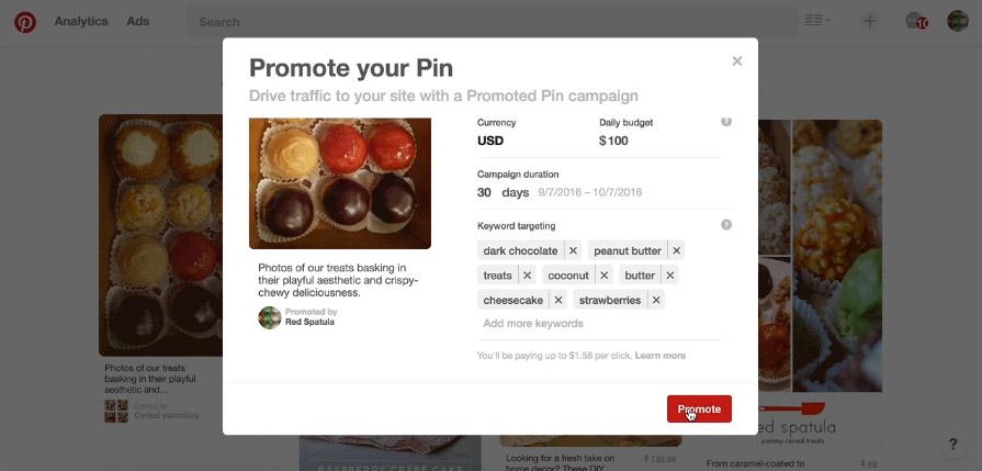 Pinterest Sponsorlu Pinler